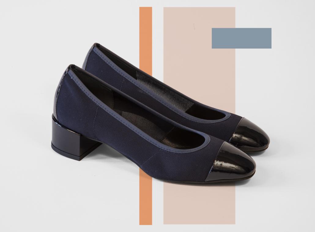 Ballerine-tissus-noir-Chaussure-Italienne-Boutique-Coup-de-Soleil-Geneve